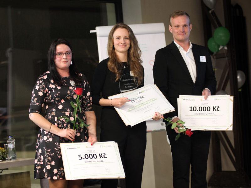 1. místo Andrea Sýkorová, 2. místo Vojtěch Bočok, 3. místo Terezie Molková